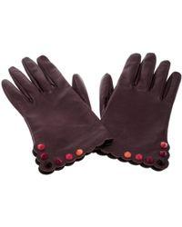 Fendi - Burgundy Leather - Lyst