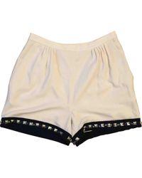 Diane von Furstenberg - White Polyester Shorts - Lyst