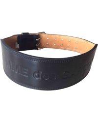 Comme des Garçons - Pre-owned Vintage Black Leather Belts - Lyst