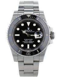 Rolex - Submariner Silver Steel Watches - Lyst