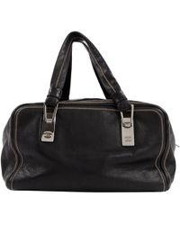 Chanel - Vintage Black Leather Handbag - Lyst