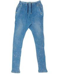 Balmain Pantalons en Coton Bleu