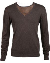 Dolce & Gabbana - Brown Silk Knitwear & Sweatshirts - Lyst