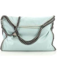 Stella McCartney - Falabella Blue Synthetic Handbag - Lyst