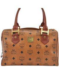 ce693ecc79582 Tasche Klara Visetos hobo medium aus cognacfarbenem Visetos Stoff. 595 €.  MONNIER Frères · MCM - Leder Handtaschen - Lyst