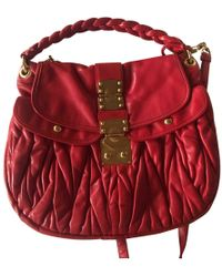 69c20b1cf4f Miu Miu - Madras Red Leather Handbag - Lyst