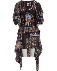 Jean Paul Gaultier - Multicolour Silk Dress - Lyst