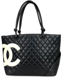 a9950df2ff4a88 Chanel Cambon Line Women's Bag Medium Tote Bag Tote Bag Black/white ...