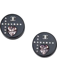 Chanel - Black Plastic Earrings - Lyst