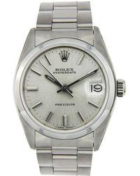 Rolex - Silver Steel Watch Oyster Perpetual - Lyst