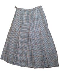 2e19099b44 Vestiaire Collective · Burberry - Pre-owned Vintage Multicolour Wool Skirts  - Lyst