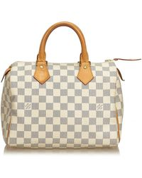 Louis Vuitton - Speedy Ecru Plastic Handbag - Lyst
