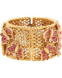 Dior - Pre-owned Gold Metal Bracelet - Lyst