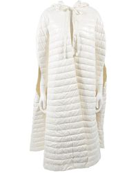 Moncler - White Synthetic Coat - Lyst