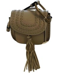 Chloé - Pre-owned Hudson Leather Crossbody Bag - Lyst