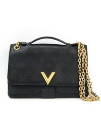 Louis Vuitton - Very Black Leather Handbag - Lyst
