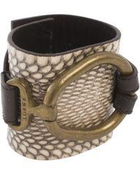 Loewe - Pre-owned Leather Bracelet - Lyst