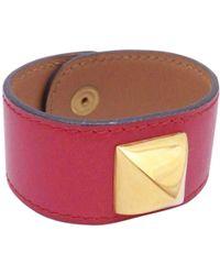Hermès - Pre-owned Médor Leather Bracelet - Lyst