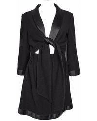 Chanel - Black Wool Dress - Lyst