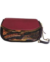 08e7ea29a629 Lyst - Louis Vuitton Pre-owned Velvet Clutch Bag in Brown