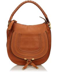 Lyst - Chloé Vintage Chloe Beige Leather Marcie Hobo in Natural 8923e7cca6