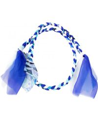 Emilio Pucci - Pre-owned Blue Silk Scarves - Lyst