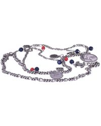 Chanel - Silver Metal Long Necklace - Lyst