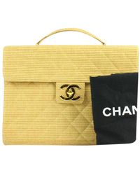 Chanel Yellow Cloth Handbag