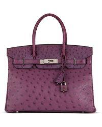 a7d9de43bdee Hermès Birkin 35 Ostrich Handbag in Orange - Lyst
