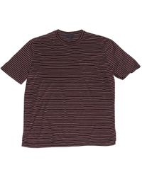 Lanvin - Pre-owned Burgundy Cotton T-shirt - Lyst