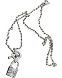 Hermès - Pre-owned Silver Necklace - Lyst