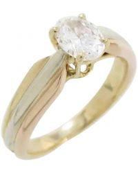 Cartier - Vintage Trinity Multicolour Yellow Gold Ring - Lyst