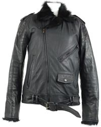 99dd7e2f3ff2 Chanel Pre-owned Black Leather Jackets in Black - Lyst