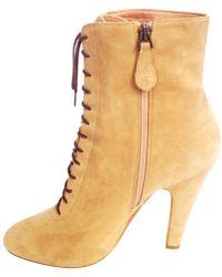 Alaïa - Lace Up Boots - Lyst