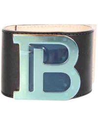 Balmain Bracelets en Cuir Marron - Multicolore