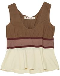 Marni - Brown Cotton Top - Lyst