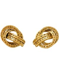 Hermès - Pre-owned Vintage Other Yellow Gold Earrings - Lyst