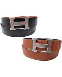 Hermès | Pre-owned Boucle Seule / Belt Buckle Leather Belt | Lyst