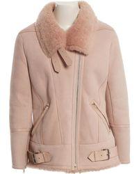 IRO - Pink Suede Coat - Lyst