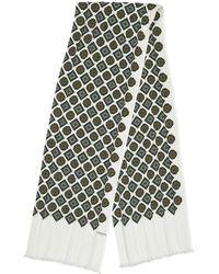Lanvin Ecru Silk Scarves - Multicolor