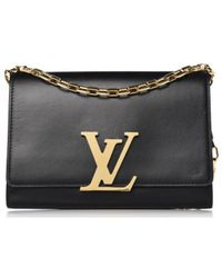 Louis Vuitton - Louise Black Leather Handbag - Lyst