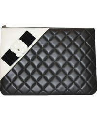 Chanel - Leather Clutch Bag - Lyst
