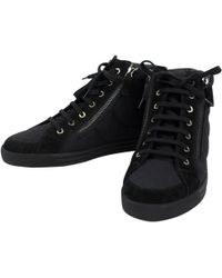 9e63e2f5a Vestiaire Collective · Chanel - Pre-owned Black Cloth Trainers - Lyst