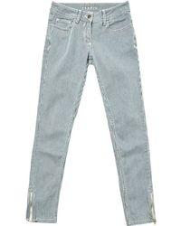 Sandro - Blue Cotton Trousers - Lyst