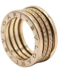 BVLGARI - Pre-owned B.zero1 Other Pink Gold Rings - Lyst