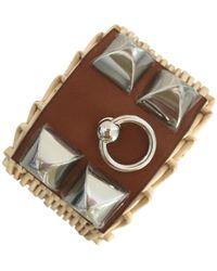 Hermès - Collier De Chien Picnic Leather Bracelet - Lyst