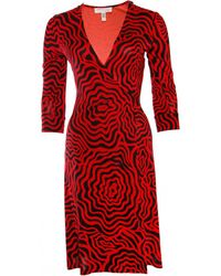 646f4bf8 Diane von Furstenberg - Pre-owned Red Silk Dresses - Lyst