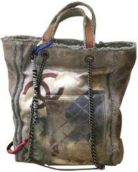 Chanel - Graffiti Cloth Handbag - Lyst