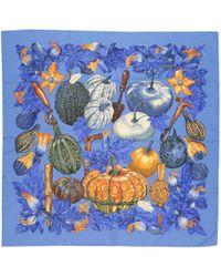 Hermès - Blue Silk Scarves - Lyst