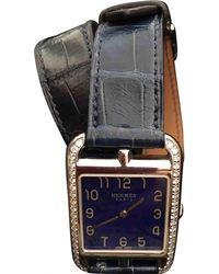 Hermès - Pre-owned Cape Cod Diamants Blue Steel Watches - Lyst